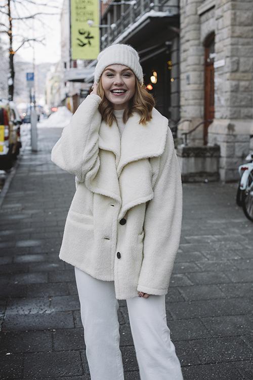Designers Remix Beth Coat Cream teddy jakke
