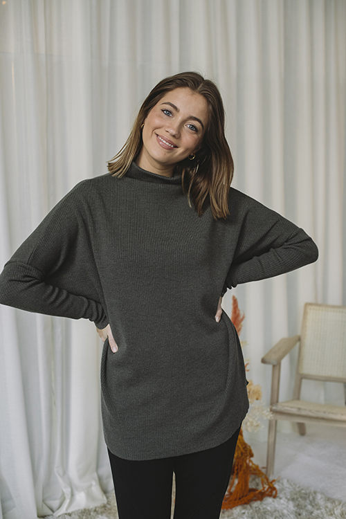 Ella&il Krisy Merino Sweater Green genser
