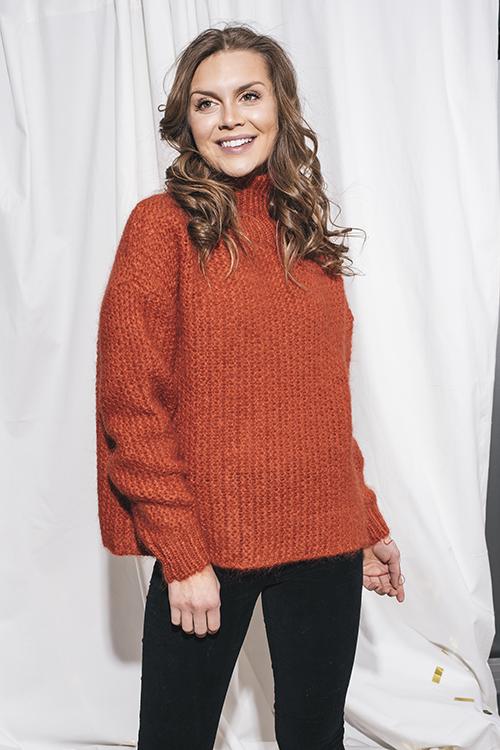 Elle&il Linda Mohair Sweater Red genser