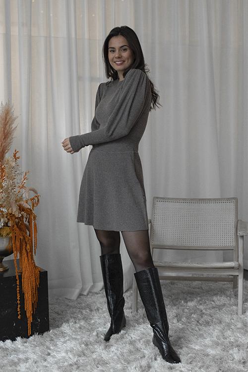 Ella&il Una Wool Dress Portobella kjole