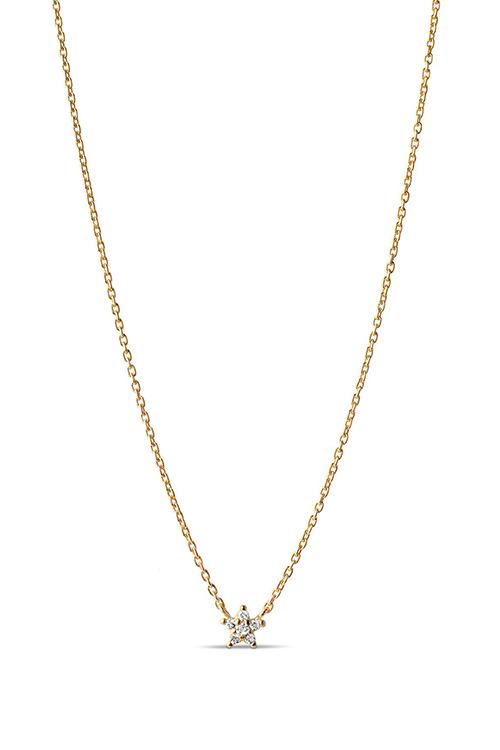 Enamel Copenhagen Fleur Necklace Gold kjede