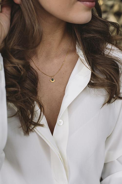 Enamel Copenhagen Soleil Necklace Gold smykke