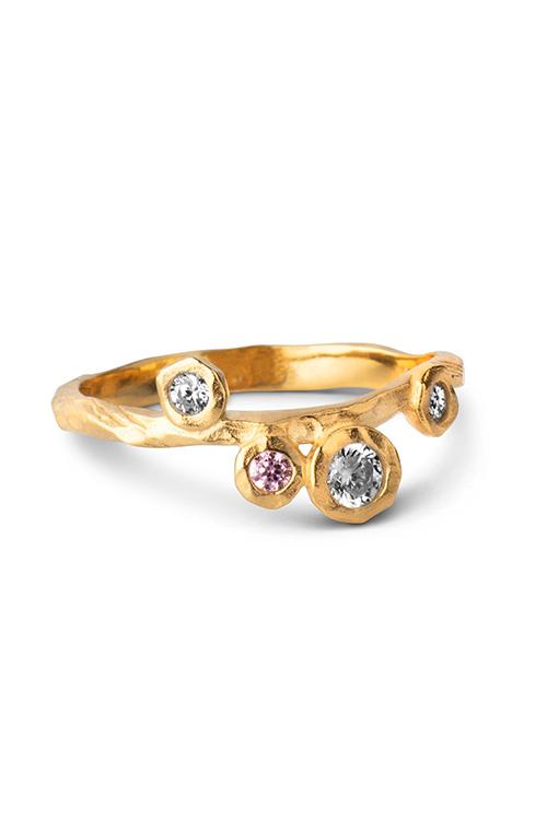 Enamel Copenhagen Rose Ring Gold ring