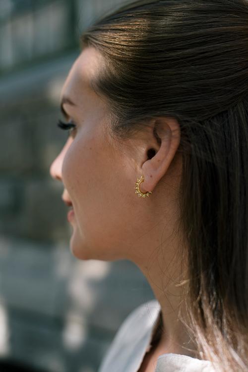 Veda Earrings Clear CZ