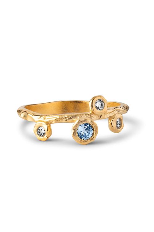 Enamel Blooming Ring ring