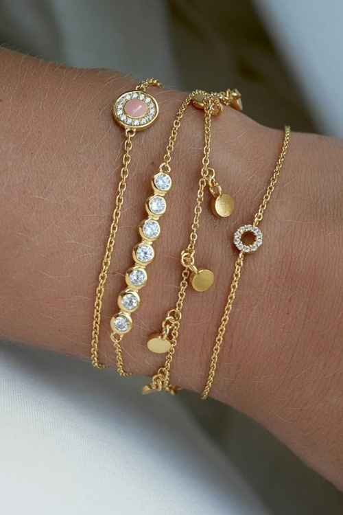 Raindrops Bracelet Gold