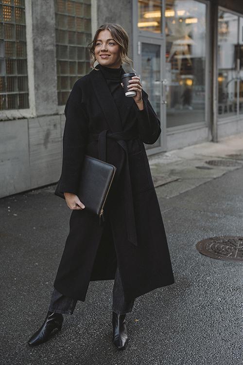 Houston Coat Black