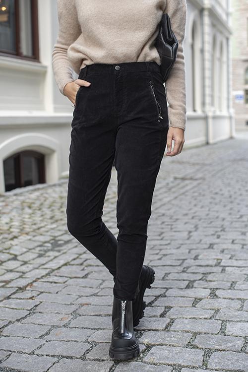 Fiveunits Jolie 619 Drifter Black Babycord bukse