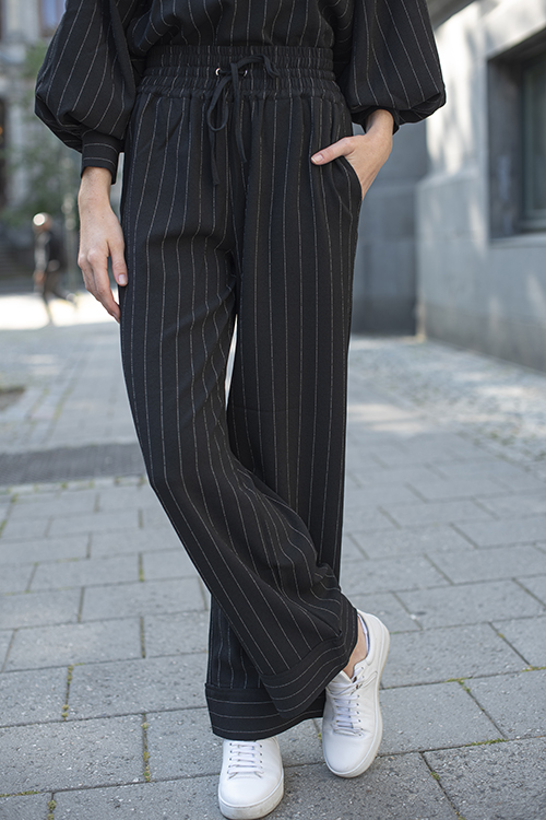Ganni Heavy Crepe Pants Black bukse