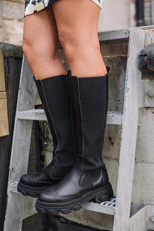 GANNI High Chelsea Boot Black støvletter