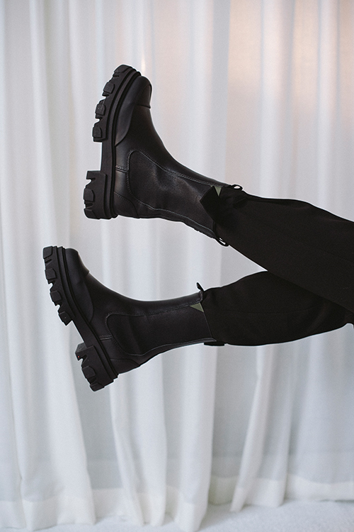 Ganni Mid Chelsea Boots Black sko