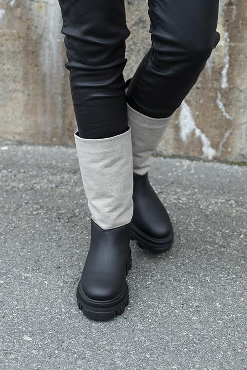 GANNI Bio Grafitti Working Boots Nature støvletter sko