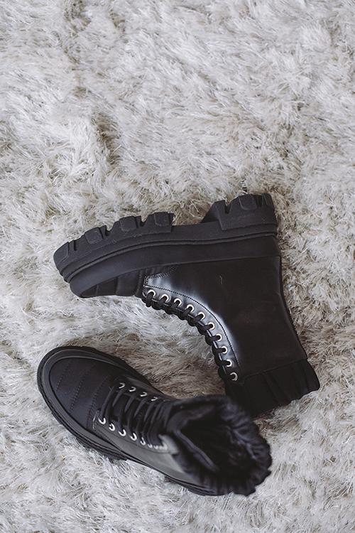 GANNI Brush Off & Nylon Boots Black sko