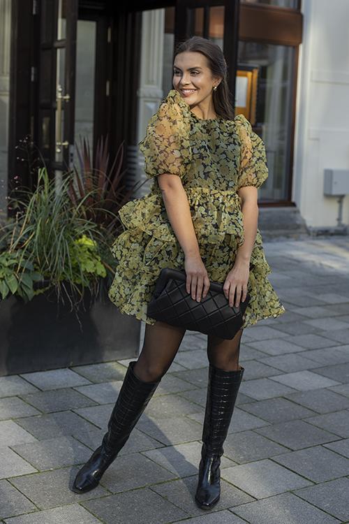 Ganni Organza Mini Dress Flan kjole