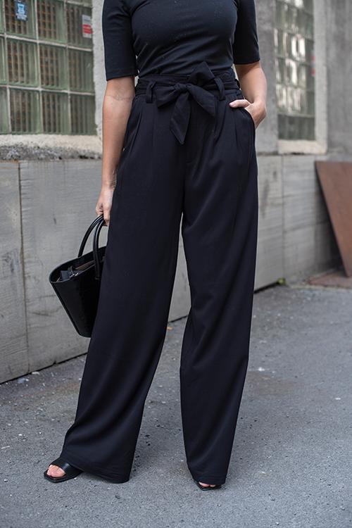 Berta Hw Pants Black