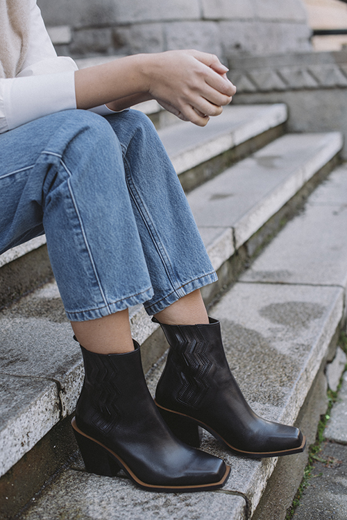 Gestuz Bia Boots Black sko ankelstøvletter