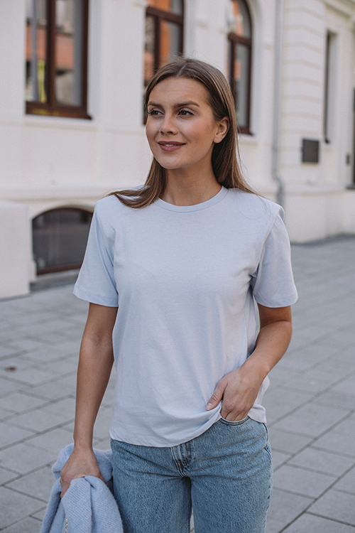 Gestuz Jory Tee Xenon Blue t-skjorte