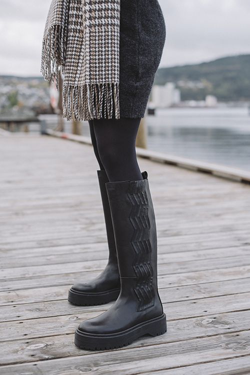 Gestuz Marlee Long Boots Black støvletter