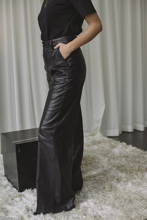 Nioa HW Wide Pants Black