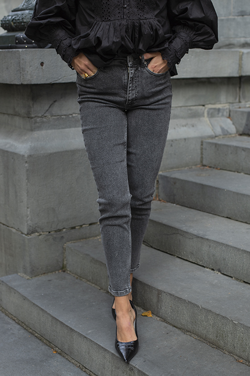 Gestuz Astrid High Waist Slim Jeans Vintage Grey bukse