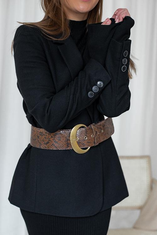 Gestuz Manta Belt Brown Snake belte