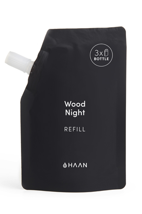 HAAN Refill Pouch Wood Night håndsprit