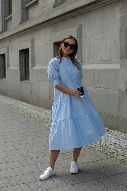 HiiL Studio Adore Dress Chambray Blue kjole