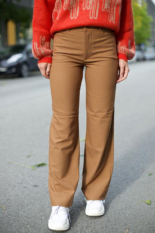 Holzweiler Skifer Trousers Camel bukse