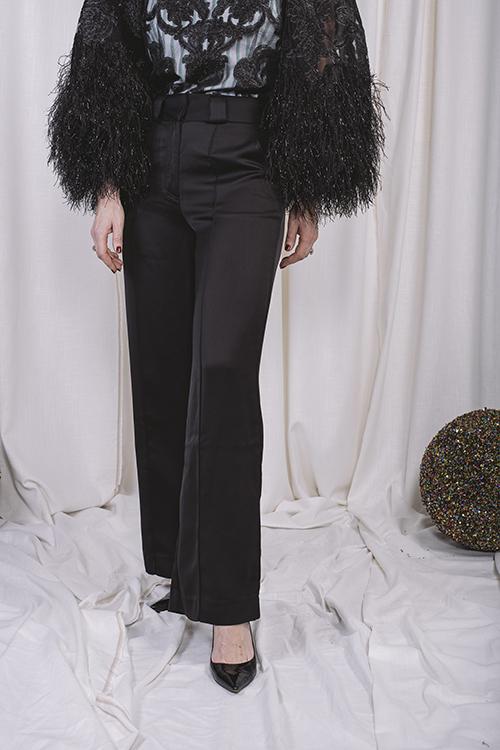 Holzweiler Soft Trousers Black bukse