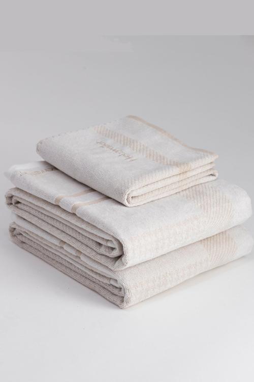 Holzweiler Holzweiler Towel Large Ecru Check badehåndkle
