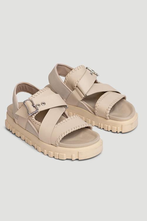 Holzweiler National Sandal Stitch Lt Yellow sandaler sko