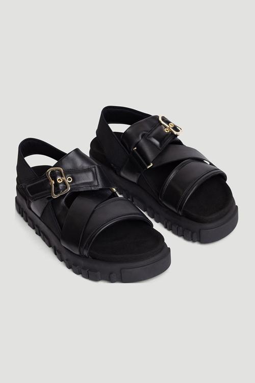 Holzweiler National Sandal W. Gold Black sandaler sko