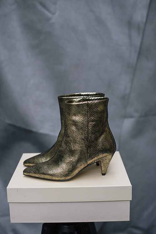 Ivylee Casablanca Boots Reptile Gold støvletter