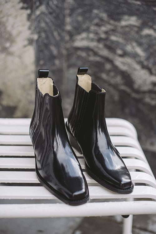 Ivylee Chicago Glaze Boots Black ankelstøvletter