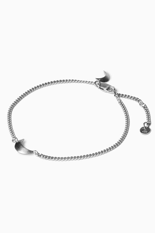 Jane Konig Half Moon Bracelet Silver armbånd