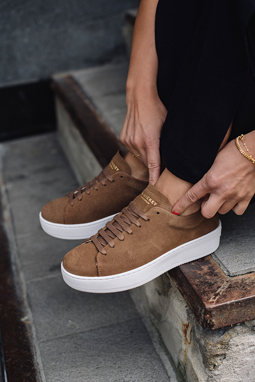 Jim rickey deuce court sneakers taninn sko