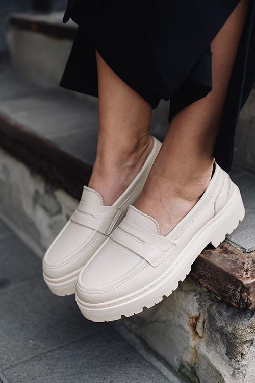 jim rickey penny loafer cream sko