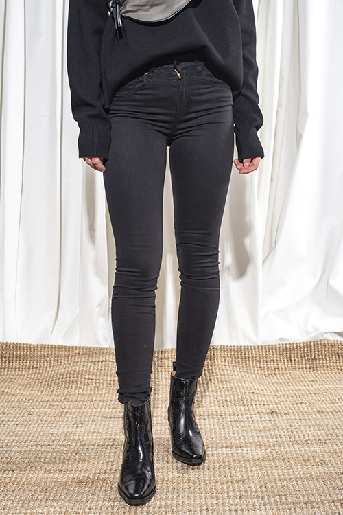 Lois Celia Lea Soft Black bukse