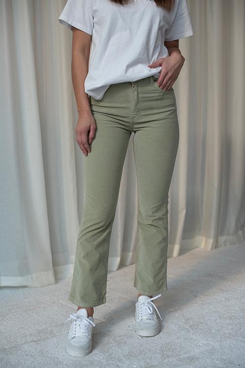 Lois Malena Micro Fade Olive Grey bukse