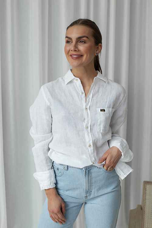 Lois Lucas Light Linen Shirt White skjorte
