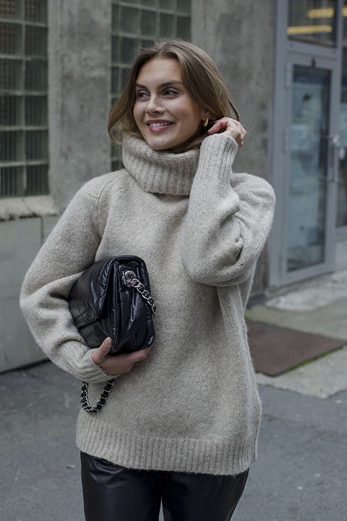Giara Oversized Sweater Beige Melange