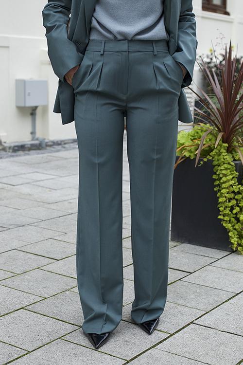 Loulou Studio Sbiru Pants Petroleum dressbukse