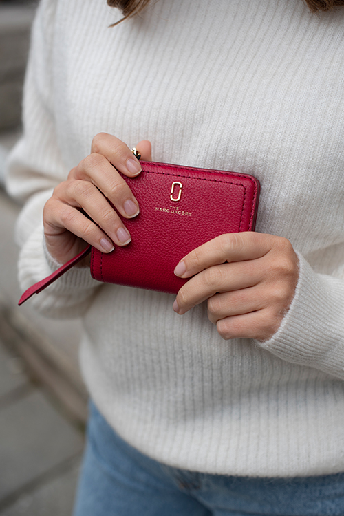 Mini Compact Wallet Persian Red