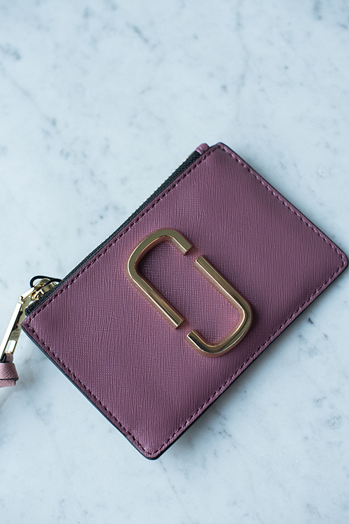 Marc Jacobs Top Zip Wallet Dusty Ruby Multi lommebok