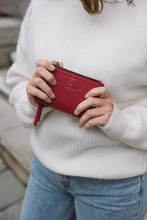 Top Zip Multi Wallet Persian Red