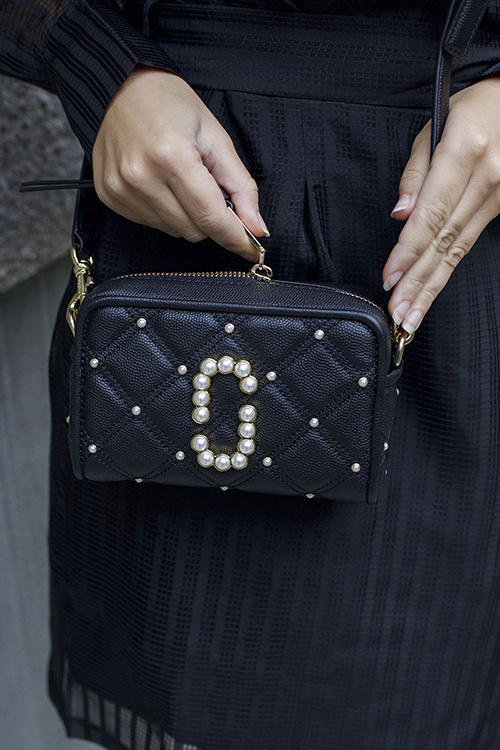 The Softshot Quilted Pearls Black