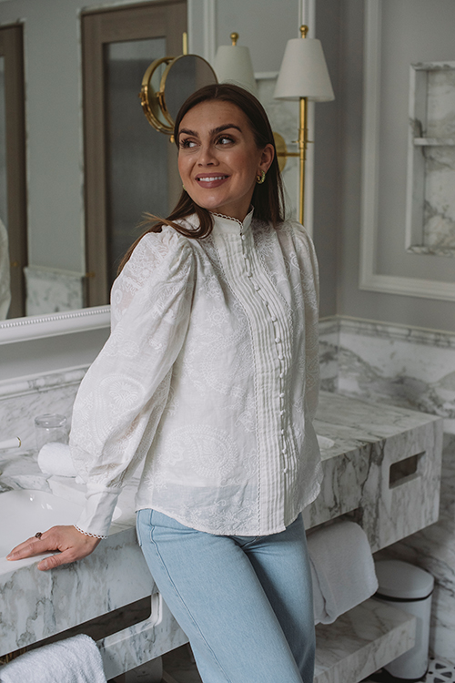 Ministry Of Style Amora Blouse Ivory Blondebluse