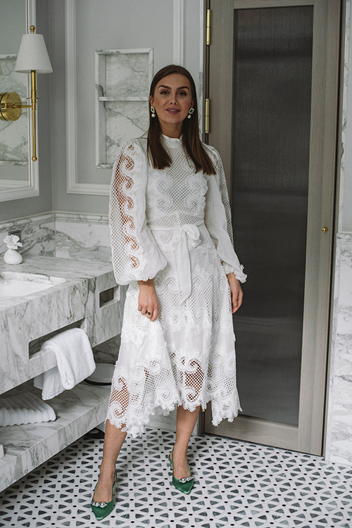 Ministry Of Style Victoriana Lace Midi Dress Ivory Blonekjole