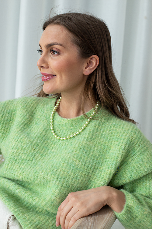 Miss Mathiesen Pearly Chain XS Green smykke