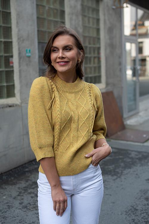 Munthe rasberry sweater lemon genser